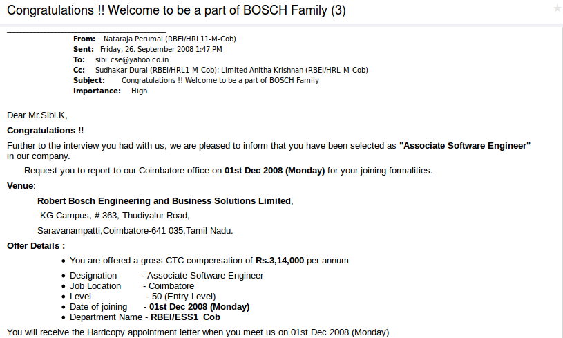 Bosch appointment